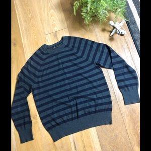 Banana Republic cashmere cotton striped sweater